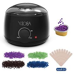 Wax Warmer, Abody Hair Removal Waxing Kit with 4 Bags Hard W
