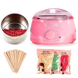 Wax Warmer Hair Removal Beauty Kit - Painless Waxing Kit Ele