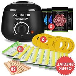 Wax Warmer, Bouvetan Hair Removal Waxing Kit with 4 Scents H