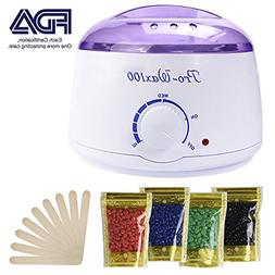 Wax Warmer, Portable Electric Hair Removal Kit for Facial &B