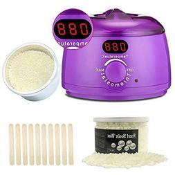 Wax Warmer, Wax Hair Removal Kit + Hard Wax Beans + 10 Wax A