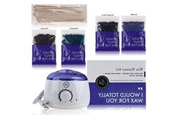 Waxing Hair Removal Hot Pro Wax Warmer Kit with 4 Wax Beads
