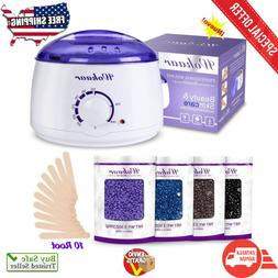 Wokaar Wax Warmer Hair Removal Waxing Kit with 4 Hard Wax Be