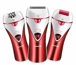 Women Epilator 3-in-1 Electric Rechargeable Cordless Hair Re